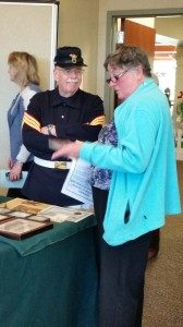 Author Bill Payne at History Faire book signing at Clifton Park-Half Moon Library 4/30/16.